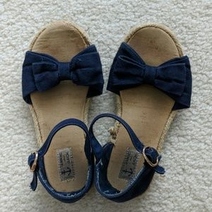 Janie and Jack toddler girl navy blue sandles